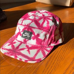 Nike SB pink and white hat